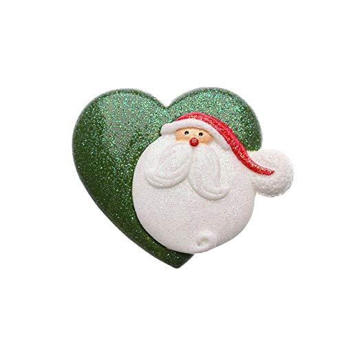 JSJJAJN Forma 1 de Dibujos Animados de Navidad PC Etiqueta magnética de Navidad Hecha a Mano del muñeco de Nieve de los Ciervos imán Frigorífico Decoración Imán de refrigerador (Color : 4)