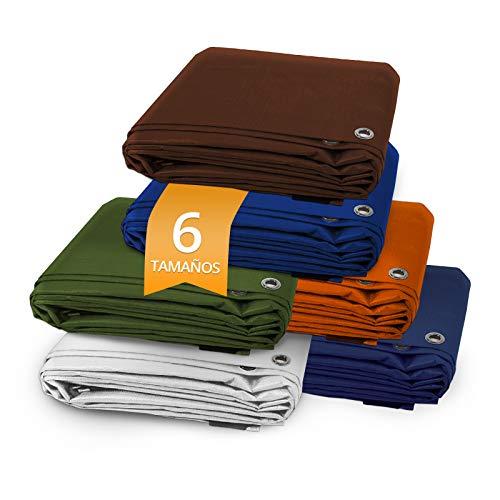 casa pura Toldo Impermeable para Exterior - Lona Impermeable Polietileno | Toldo Reforzado Impermeable | Resistente | 80g/m² | Distintos Colores y tamaños (Verde, 4x6)