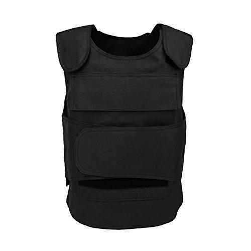 Uphsang Militärweste Militärweste mit Anti-Stab, hart, selbstverteidigende Kleidung, kugelsichere Sicherheitsausrüstung, Blcak