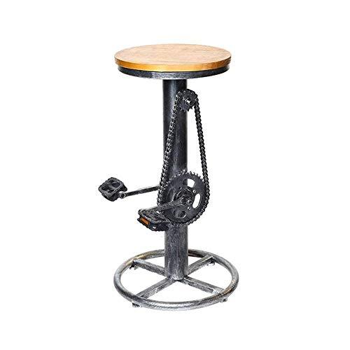 ZCXBHD barkruk, industriële stijl, retro, barkruk, van smeedijzer, barkruk, barkruk, creatief en modieus (afmetingen: 38 x 38 x 75 cm)