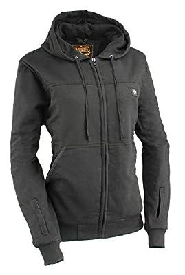 Milwaukee Performance Women's Zipper Front Heated Hoodie Black or Grey (Large, Black)