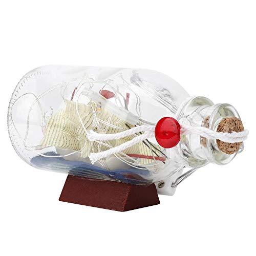 dgtrhted Drift Bottle Night Light, LED Sailing Style Boat Drift Cork Bottle Bottle Decor (Luces Rosadas)