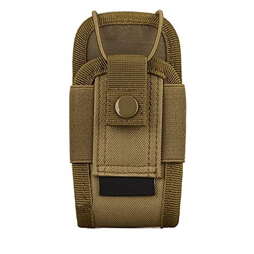 Peahog Bolsa de intercomunicador marrón, impermeable, bolsa portátil para radio, bolsa para soporte de radio, multifuncional, ideal para actividades al aire libre como ciclismo y camping