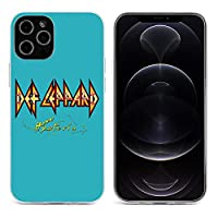 Def Leppard Viva Hysteria iPhone 12&iPhone 12 Pro&iPhone 12Pro Max&iPhone 12 miniと互換性のあるクリスタルクリアTPUケース、アンチイエロー、保護耐衝撃落下保護ケース