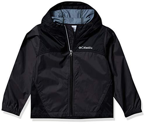 Columbia Boys' Toddler Glennaker Rain Jacket, Waterproof & Breathable, Shark/Black, 2T