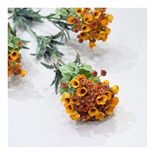 Roovtap Künstliche Blumen Hydrangea Bud Blume Simulation Blume Pflanze Schnee-Ball Startseite Hochzeit Dekoration Dried Flower (Color : Orange)