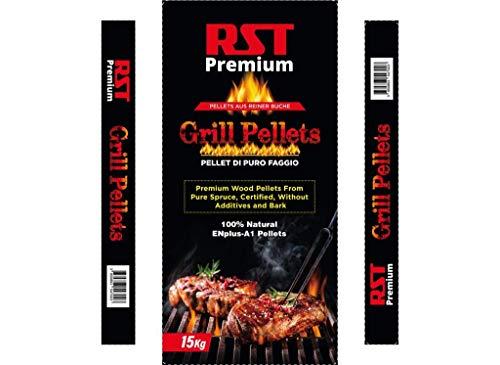 Smokerpellets: Pellets aus 100% Buchenholz   Smokerpellets für Grill, Smoker, Pellet-Pizzaofen   Grillpellets