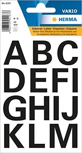 Herma Buchstaben, 25mm, A-Z, wetterfest, Folie, schwarz, 4167