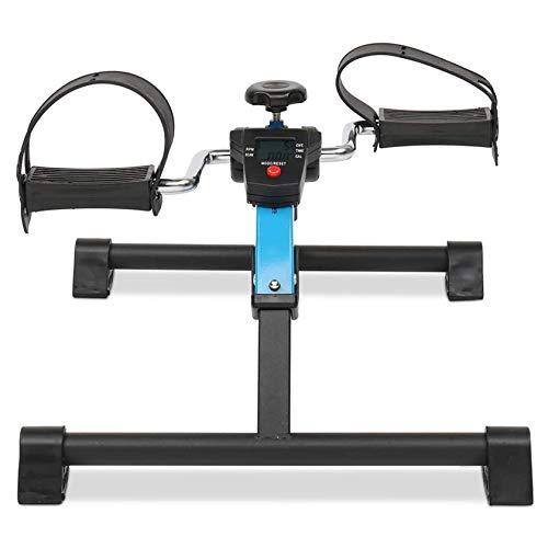 RUIVE Mini Bicicleta Estática Plegable Máquina Pedalear Manos Piernas Rehabilitación, Mini Bicicleta Estática para Brazos Y Piernas De Acero Compacto Plegable Pórtatil