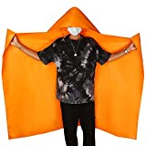 DIBBATU Fireproof Cloak, Fireproof Cape, Fireproof Hooded Cloak, Fire Emergency Survival Safety Blanket Full Body Protection, Flame Retardant Heat Insulation, Fire Escape Suit for Household (Adult)
