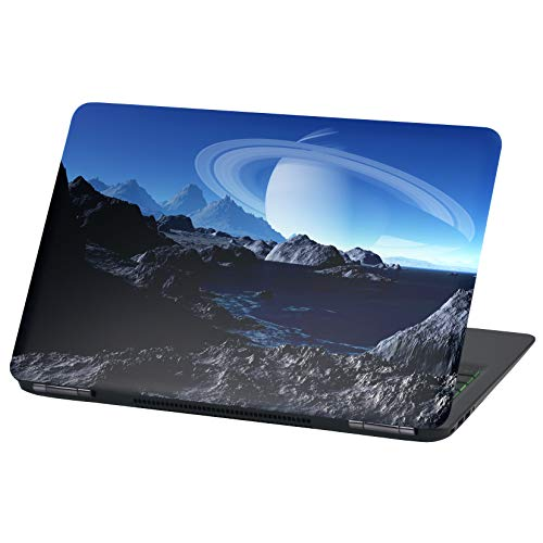 Laptop Folie Cover: Stranger Things Klebefolie Notebook Aufkleber Schutzhülle selbstklebend Vinyl Skin Sticker (17 Zoll, LP38 Saturn)