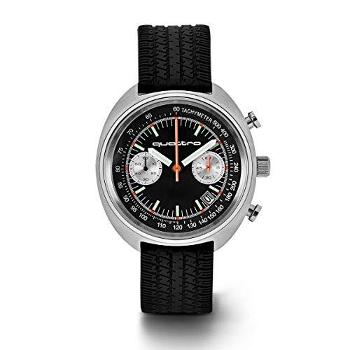 Original Audi Heritage Uhr Chronograph quattro Quarzuhrwerk schwarz