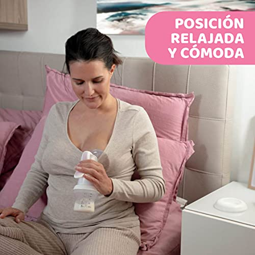 Chicco - Sacaleches manual con copa de silicona y mango ergonómico