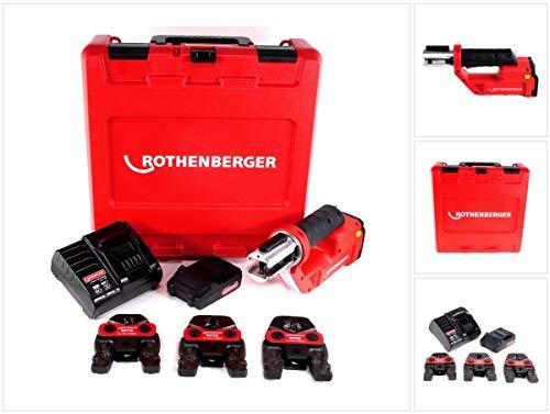 Rothenberger ROMAX Compact TT 18V Akku Pressmaschine + 1x Akku 2,0Ah + Ladegerät + Pressbackenset + Koffer (1000002117)