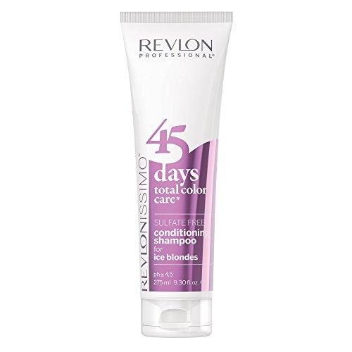 REVLON PROFESSIONAL 45 DaysConditioning Shampoo, Ice Blondes ,1er Pack (1 x 275 ml)