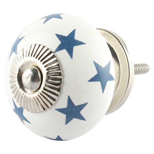 Indianshelf Handmade 16 Pieces Ceramic Star Slate Blue Door Knobs for Cabinet Dresser Drawer Pulls Artistic Online