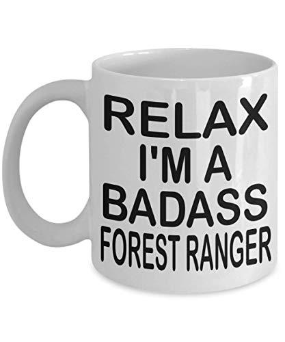 N\A Lustige Waldläufer Kaffeebecher Entspannen Sie Sich Ich Bin EIN Badass Waldläufer Waldläufer Geschenk Geschenke für Waldläufer Männer Frauen
