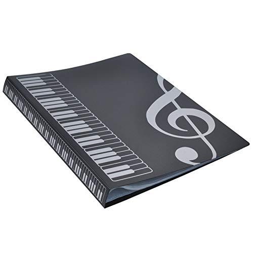 ukYukiko 80 Vellen A4 Muziek Boek Mappen Piano Insert-Type Muziek benodigdheden Bestand Opslag