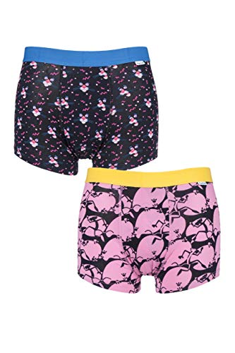 Happy Sokken Heren Trunks Roze Panter (2 paar)