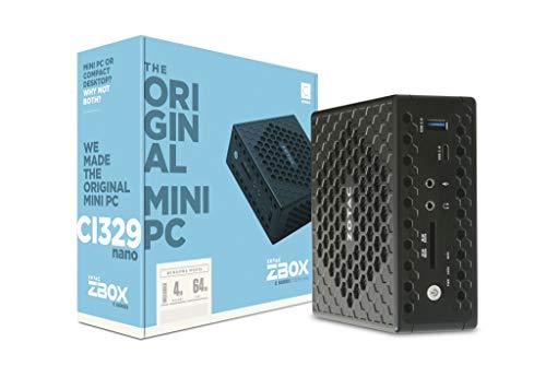 Zotac Zbox-Ci329Nano-Be-W3D Nano Mini-Pc Met, Windows 10 In S-Modus, Intel Celeron N4100, 4 Gb Ddr4-Sdram, 64 Ssd, Zwart