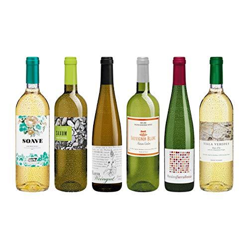 Weinpaket Weisswein aus reicher Natur, veganer Wein, Biowein-Probierpaket von DELINAT (6 x 0,75l)
