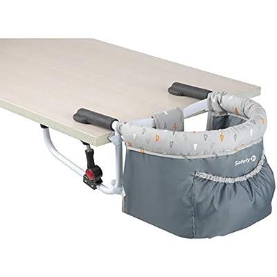 Safety 1st Smart Lunch Trona portátil bebé, trona de viaje para niños 6 meses - 3 años, compacta y fácil de llevar, color Warm grey