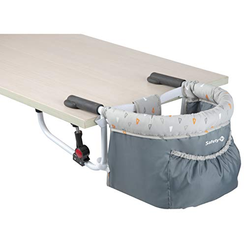 Safety 1st 2728191000 Sitzerhöhung Smart Lunch, praktischer Tischsitz für Kleinkinder, optimaler Halt durch zwei Sicherheitsriegel, ab ca. 6 Monate bis max.15 kg, Warm Grey, grau, 1.938 kg