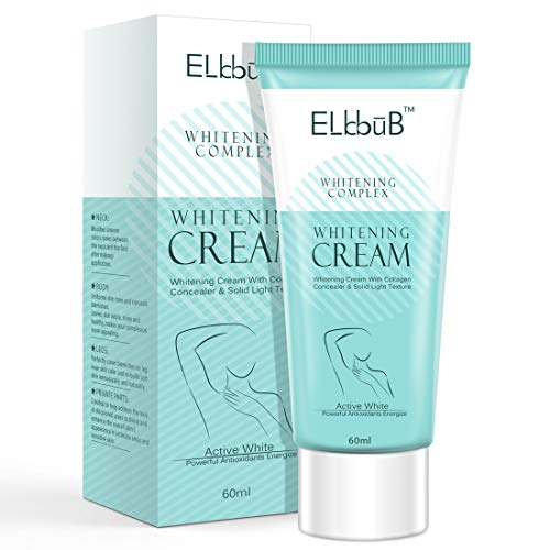 Lightening Cream, Underarm Cream Effective for Armpits, Knees, Elbows, Neck, Knees, Intimate Parts, Whitens, Nourishes, Repairs and Moisturizes with Collagen