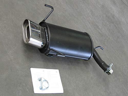 Stahl Endschalldämpfer OPEL Corsa C, Typ(en) C, 1.0,1.2,1.4,1.8,1.3CDTI,1.7DI,1.7CDTI (Otto 43,44,55,59,66,92KW Diesel 48,51,55KW), Bj. 09/00-, Frontantrieb - Endrohr(e) 75x135mm abgeschrägt