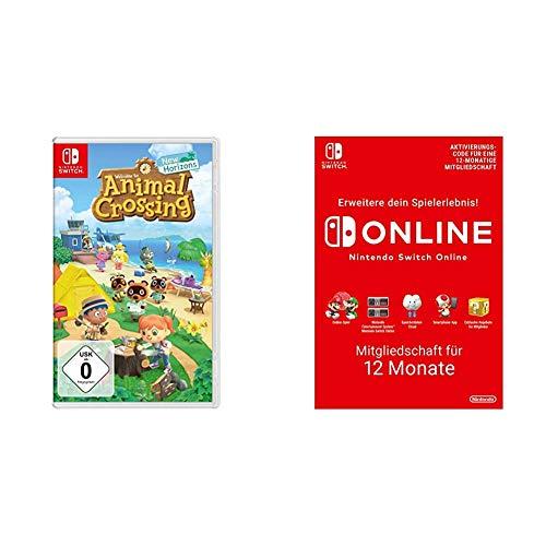 Animal Crossing: New Horizons [Nintendo Switch] + Nintendo Switch Online Mitgliedschaft - 12 Monate   Switch Download Code