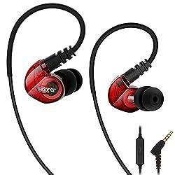Sport Kopfhörer, Adorer RX6 Kopfhörer in ear mit Mikrofon IPX4 Wasserschutz für Sport und Workout - Rot
