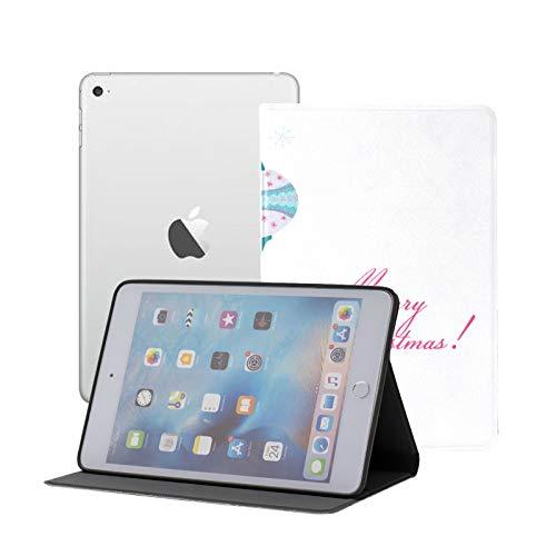 Estuche para iPad Mini 1 2 3, Delgado y liviano, Estuche Trasero Inteligente para iPad Mini, Mini 2, Mini 3 con Reposo/Despertador automático, Navidad Vintage