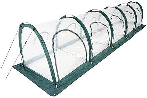Invernadero de Jardín Invernadero, plantas de túnel de pasillo Casa caliente con múltiples puertas con cremallera en cremallera, marco de carpa portátil cubierta de PVC impermeable invernadero para ve