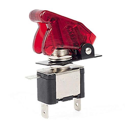 EElabper De Palanca basculante de conmutación de 12V 20A de luz LED con la Cubierta Impermeable para el Carro del Coche la Motocicleta del Barco ASW-07D Rojo