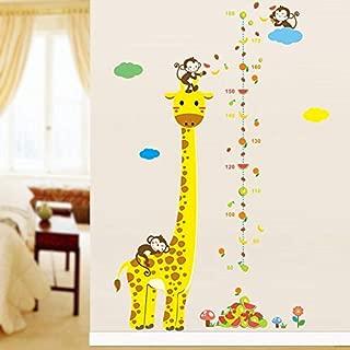 Angoter Amovible Toise Mesure Mur d/écalque dautocollant pour Les Enfants Chambre b/éb/é Girafe