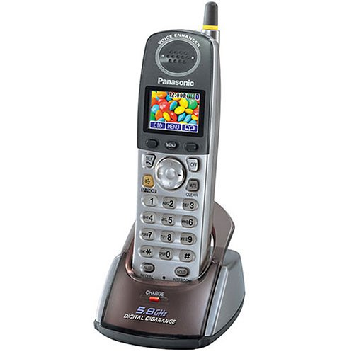 Panasonic KX-TGA551M 5.8 GHz Supplemental Handset for KX-TG5500 Series Telephone Systems (Metallic Grey)