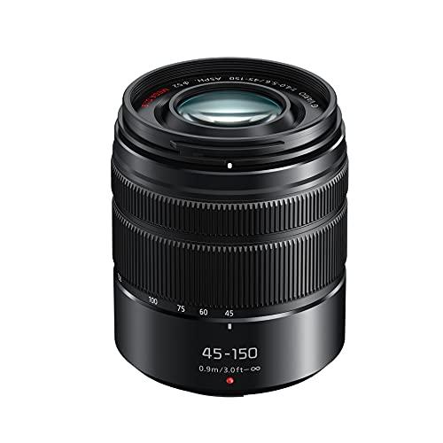 Panasonic H-FS45150EKA LUMIX G Vario Telezoom 45-150 mm F4.0-5.6 ASPH. Objektiv (90-300 mm KB, O.I.S. Bildstabiliator) schwarz