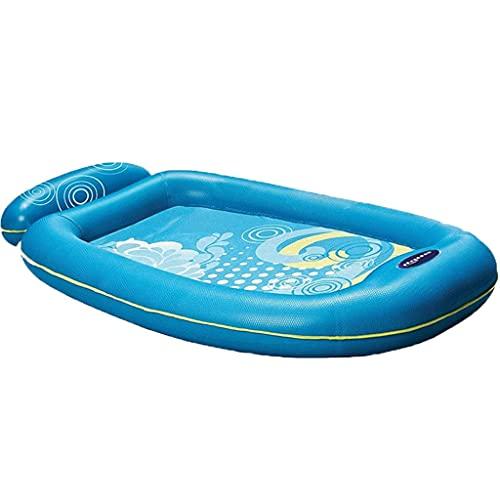 kayak Inflable Barco de Flotadores de Piscina para Adultos Y Niños, Piscina de Bronceado Blow Up Bañera de Balsa con Almohada Inflable, para La Familia Al Aire Libre, Jardín, Fiesta de Agua de Verano