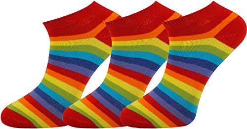 Mysocks Einfach Füsse & Sneakersocken 3 Paar Regenbogen