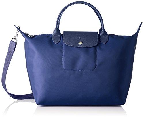 Longchamp Damen Le Pliage Neo Henkeltasche, Blau (Navy), 17x28x32 cm