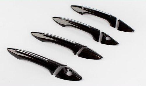 Zubehör für Hyundai i30 GD 2011-2016 Carbon Optik Türgriffblenden Türgriffe Kappen Blenden Tuning Abdeckungen Door Catch Molding