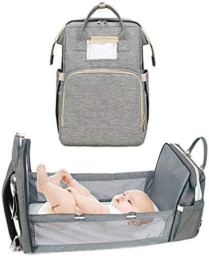 CYGGA Mochila Cambiador para Bebé como Cuna con Correas para Cochecito de Gran Capacidad Cambiador, Bolsas de Pañales Impermeables Mochila Bolsa de Bebé Mochila de Viaje para Dormir en Ruta Excursión