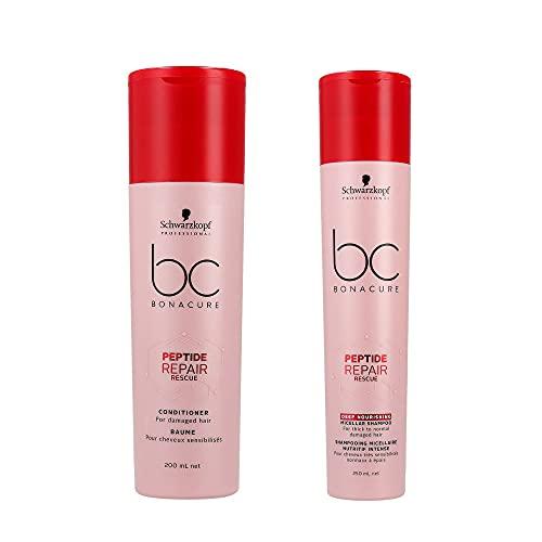 Schwarzkopf BC Bonacure DUO Peptide Repair Rescue Deep Nutriente Micellar Shampoo 250ml & Balsamo 200ml
