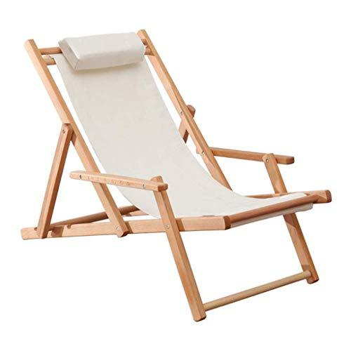 Silla Zero Gravity Tradicional Garden Beach sillas de Playa clásico tumbonas reclinables Sillas de Madera Hamacas reclinables sillas de Camping, Rojo Raya Blanca Muebles de Jardin (Size : B)