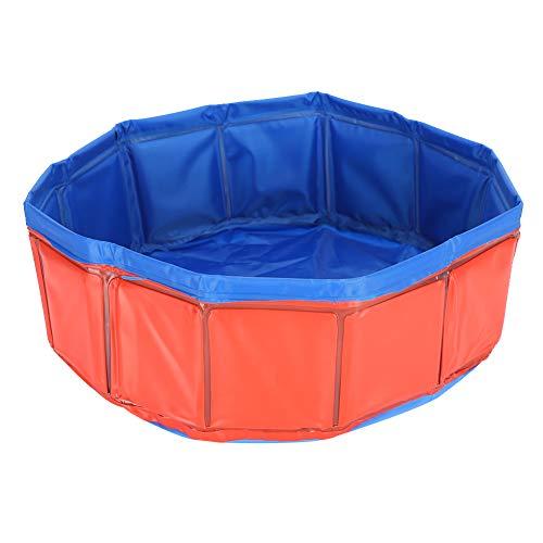 HEEPDD Piscina de Agua para Mascotas, Ducha portátil para Mascotas, Piscina de Agua, Suministro de bañera, PVC, Gato, Perro, bañera Plegable sin inflar para Perro, Gato, Animal pequeño(Rojo)