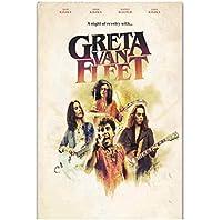 グレタヴァンフリートロックミュージックバンドツアーアルバムウォールアートポスターキャンバス絵画リビングルーム家の装飾壁の装飾(60X90Cm)-24x36インチフレームなし