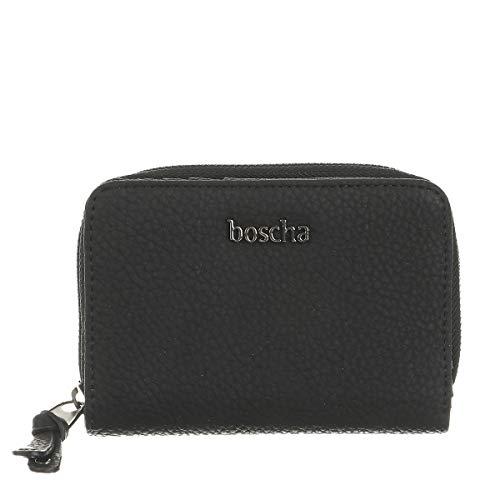 Boscha Damen Geldbörse Geldbeutel Portemonnaie Schwarz Black Mini