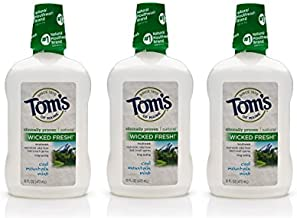 Tom's of Maine Long Lasting Wicked Fresh Mouthwash, Cool Mountain Mint, 16 Ounce, 3 Count