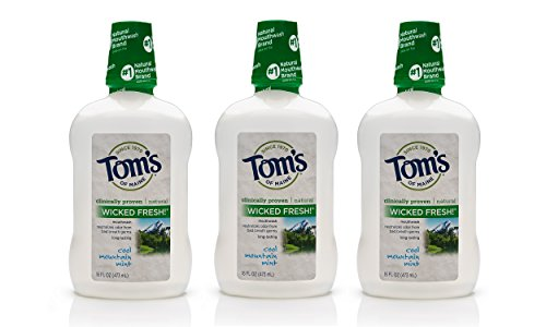 Tom's of Maine Long Lasting Wicked Fresh Mouthwash, Cool Mountain...