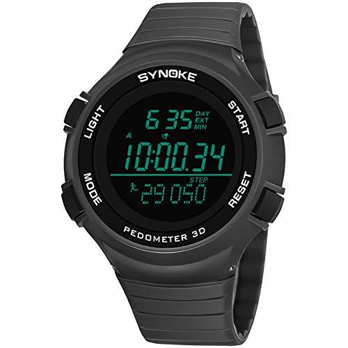 SYNOKE Herren Sportuhren Swim Dive 50M Digital LED Militäruhr Schrittzähler Male Electronics Armbanduhren wasserdichte Bergsteigerausrüstung Große Outdoor-Uhr 9102,D